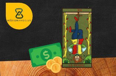 el colgado tarot significado en el dinero