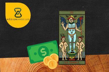 el diablo tarot significado en el dinero