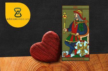 el emperador tarot significado en el amor
