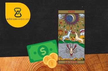 la luna tarot significado en el dinero