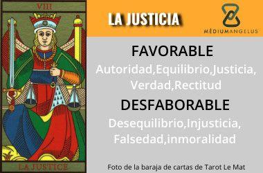 significado la justicia en el tarot