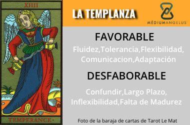 significado la templanza en el tarot